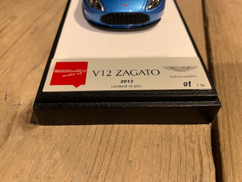 1:43 Aston Martin V12 Zagato 2012 Bright Blue Metallic (Eidolon Make Up)