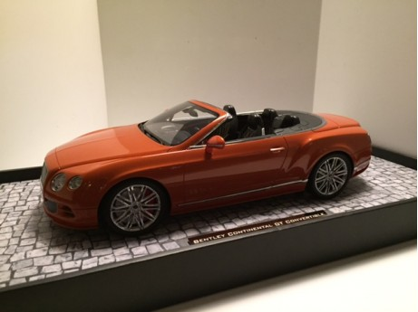 Bentley Continental GT Speed cabrio oranje 1/18