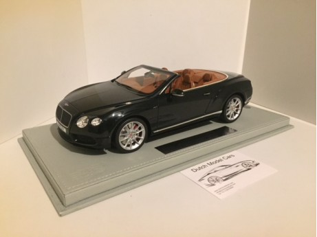 Bentley Continental GT V8 S Convertible midnight Emerald 1/18