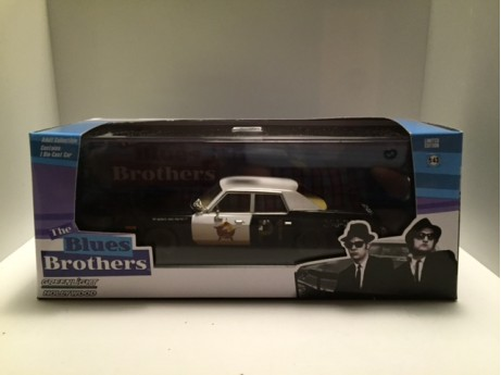 Dodge Monaco Bluesmobile Police zwart 1/43