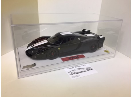 Ferrari FXX nero DS 1250 white/ Italian flag stripe  1/18