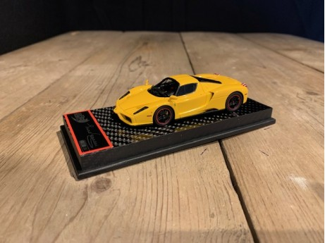 1:43 Ferrari Enzo Modena Yellow / black wheels (BBR)