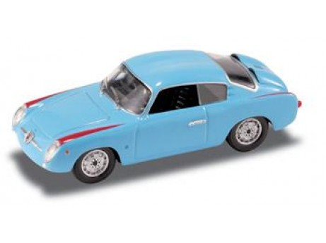 Fiat Abarth 750 coupe 1956 blauw 1/43