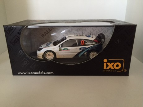 Ford Focus WRC #17 Warmbold 2005 wit 1/43