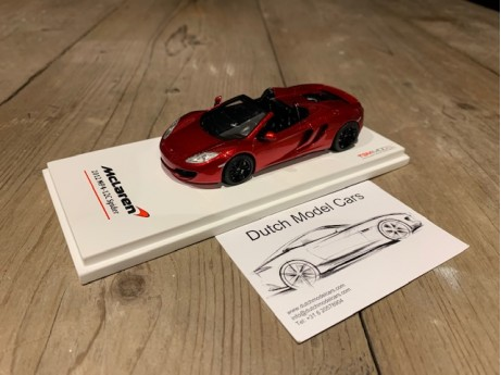 1:43 McLaren MP4-12C spider 2013 LHD volcano red