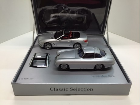 Mercedes-Benz SL set zilver 1/43